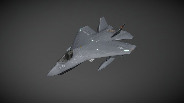 F-32B JSF STOVL 3D Model