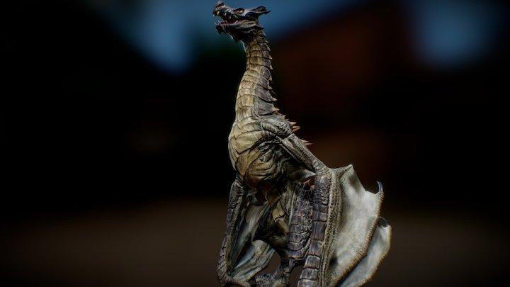 The Skyrim Dragon 3D Model