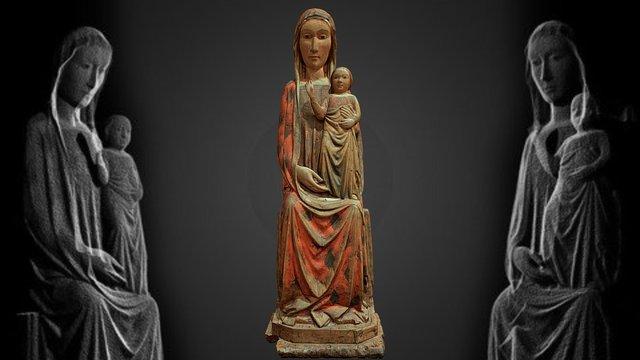 Madonna in trono con il Bambino 3D Model
