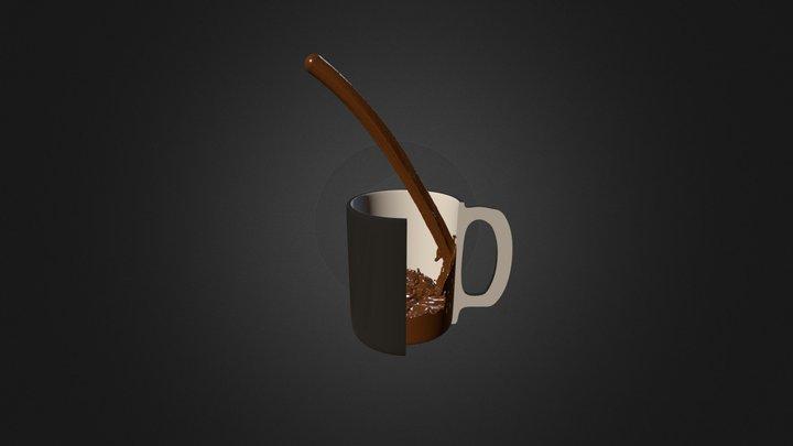 Une tasse et son sontenu 3D Model