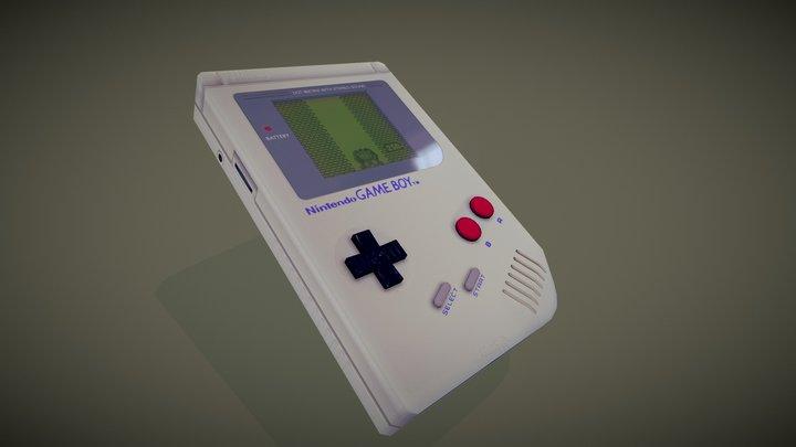 Game Boy: Donkey Kong gameplay 3D Model