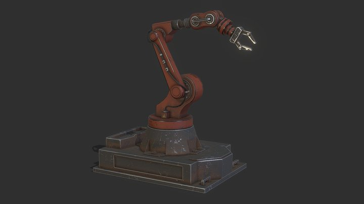 Industrial Mechanical Arm 3D Model