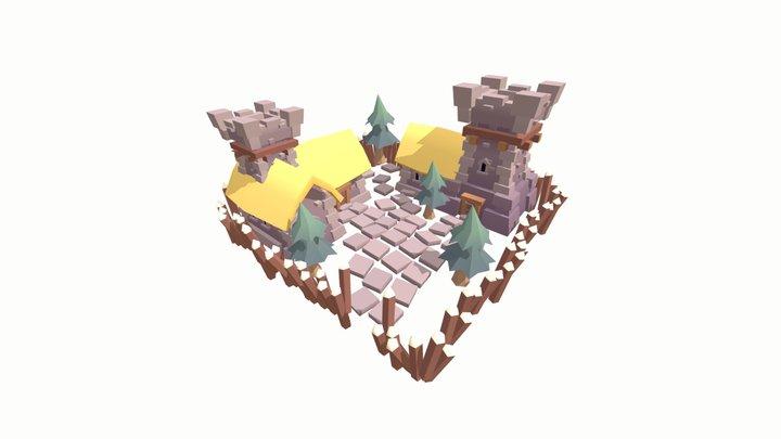 Islands - Personal Project - Barracks 3D Model