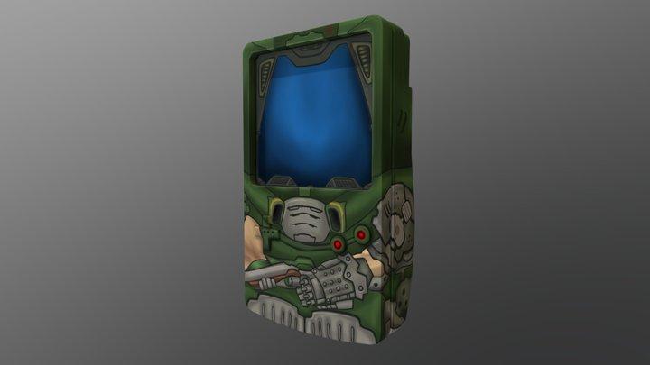 Doom Slayer - - Gameboy Handpainting Challenge 3D Model
