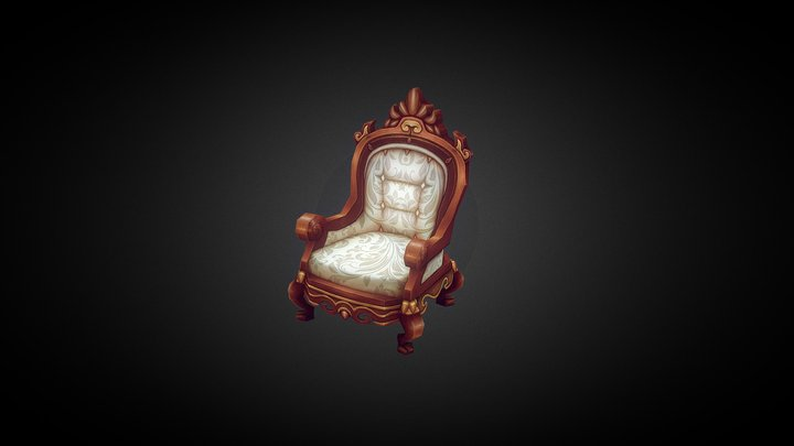 Ornate chairs 3D Model