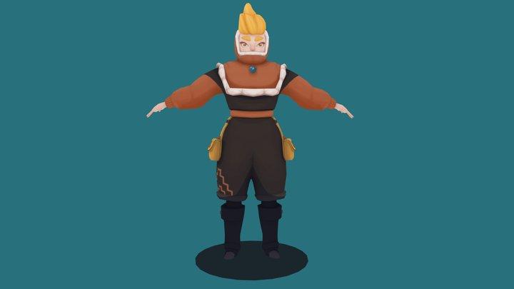 Low-poly Adventurer 3D Model
