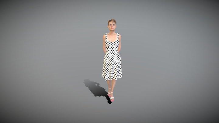 Mira Female Character Summer White Dress 3D Model