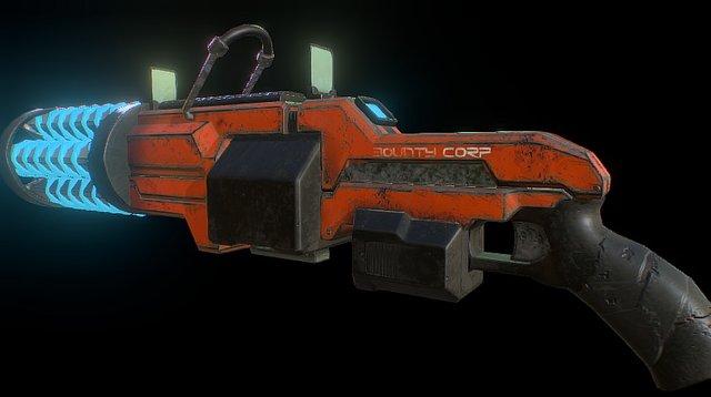 Combat LMG 3D Model