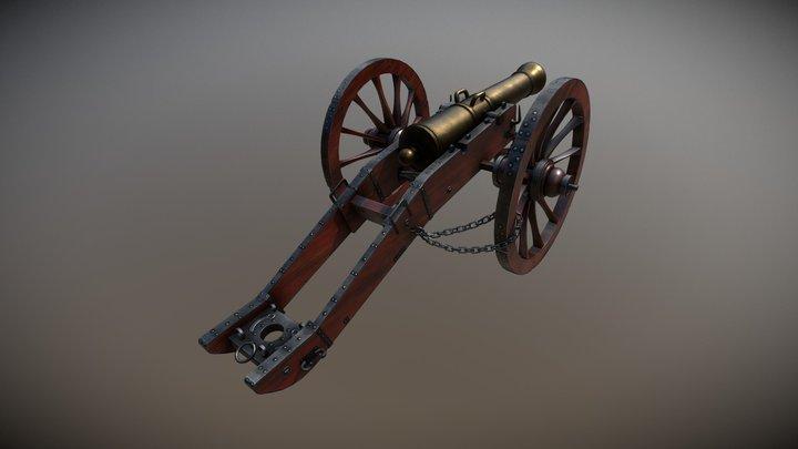 Canon de Gribeauval 3D Model
