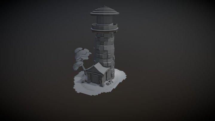 Texturas a parte - Farol dos sonhos 3D Model