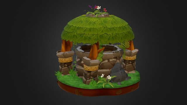 Tropical Well 3D Model