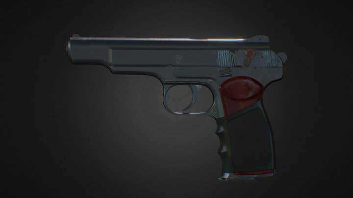 Soviet 9mm automatic pistol 3D Model