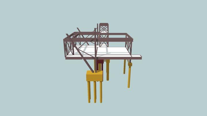 Estrutura Metálica Escola Divina 3D Model