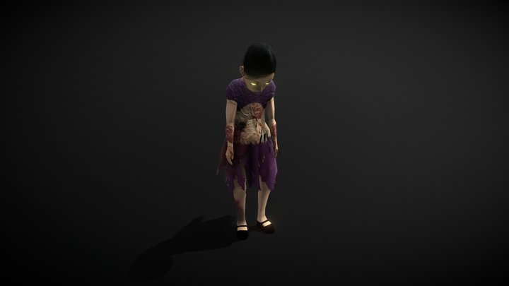 Demonic Girl (7 Animations) 3D Model