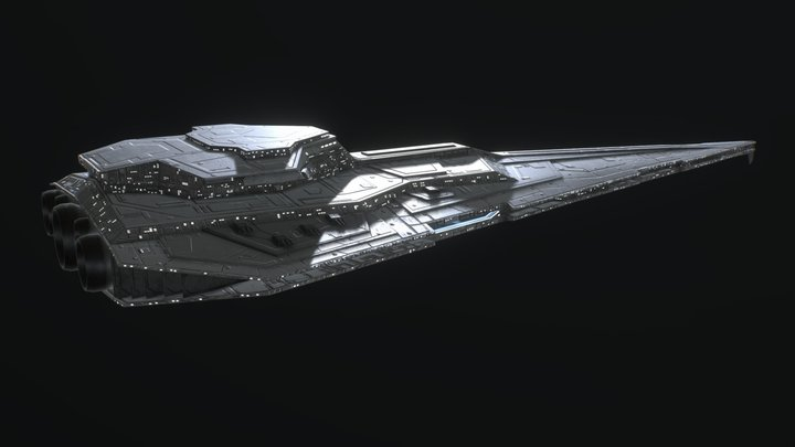 Vigilant Class Star Destroyer (Low Poly) 3D Model