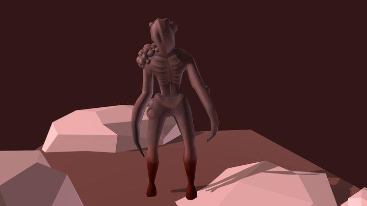 Horror Creature 3D Model