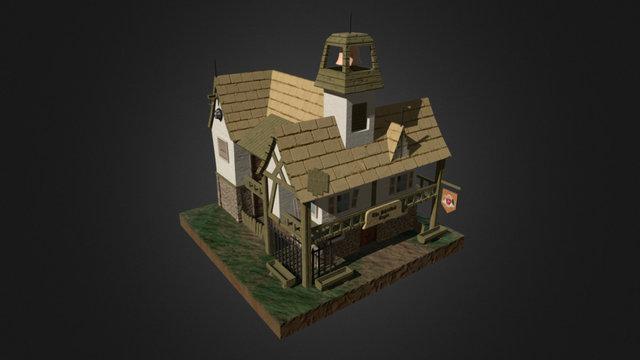The Shielded Eagle Inn 3D Model