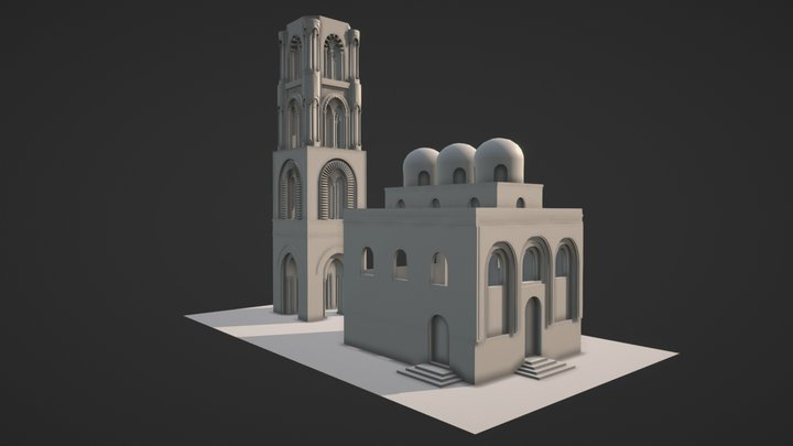 San Cataldo church - Sicily 3D Model