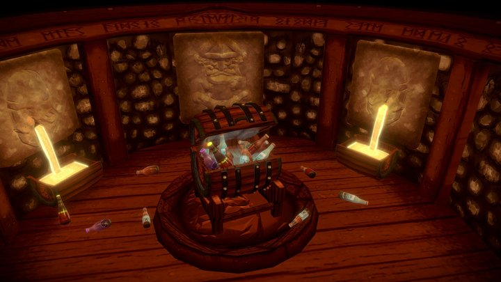 UCAC8 - The Dwarven Chest of Infinite Cold Ale 3D Model