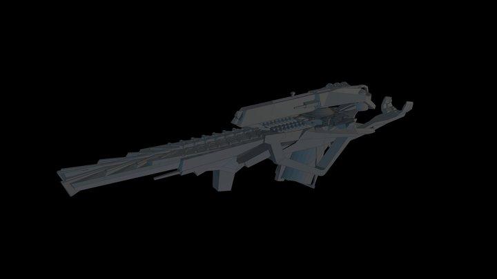 Gun Draft 3D Model