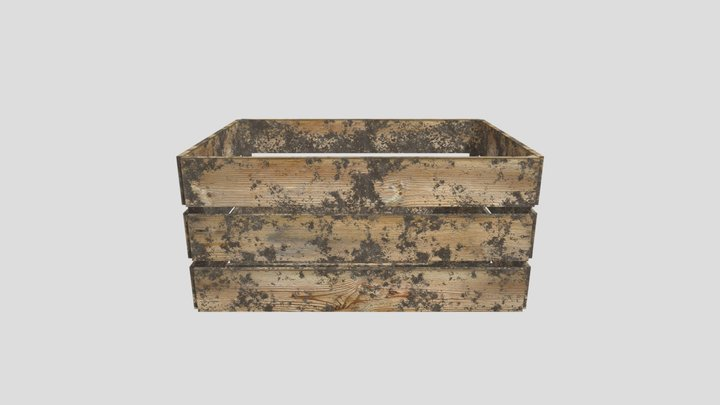 Wooden vegetable crate 3D Model