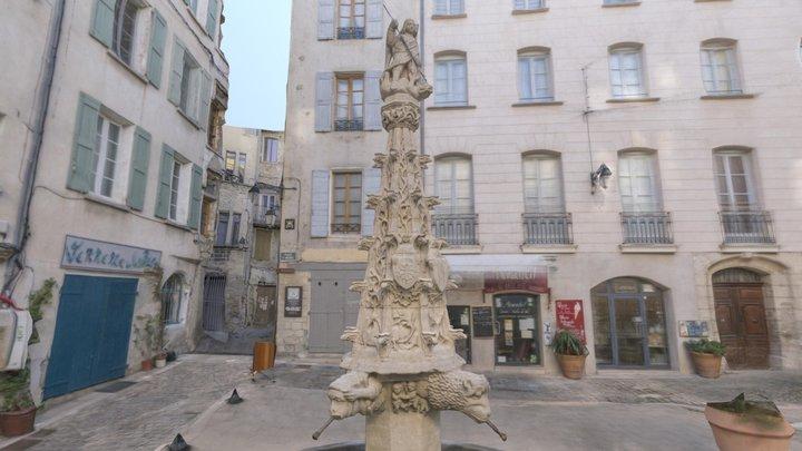 Fontaine St. Michel - Forcalquier, France 3D Model