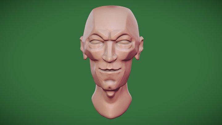 Free Stylised Head 3D Model