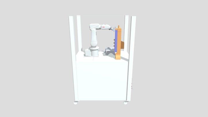 Simulación 10 con RobotStudio ABB, Estación tra. 3D Model