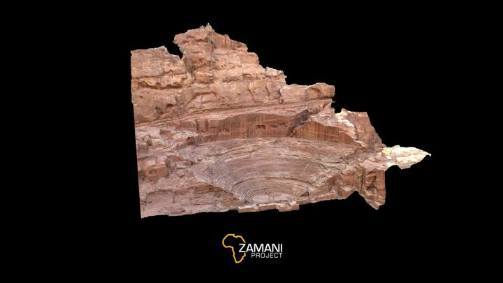 Amphitheatre, Petra 3D Model