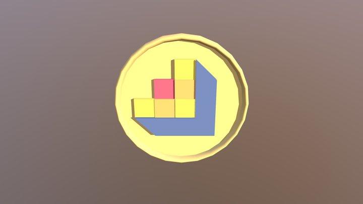 DNS Logo Coin 3D Model