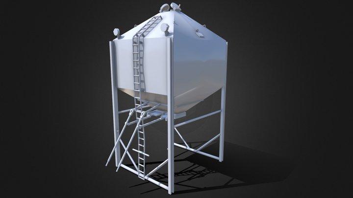 Welker 28 Ton Double Overhead Bin - 1/64 Scale