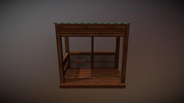 Low Poly Balcony 3D Model