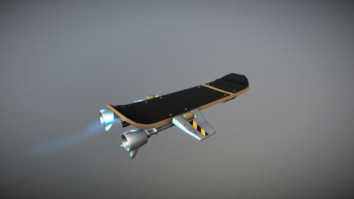 Fortnite Hoverboard 3D Model