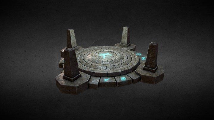Stone array 3D Model