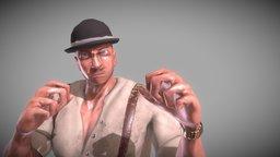 """Infinite Runner """"Thug"""" Character 3D Model"""