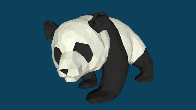 Giant Chinese Panda 3D Model