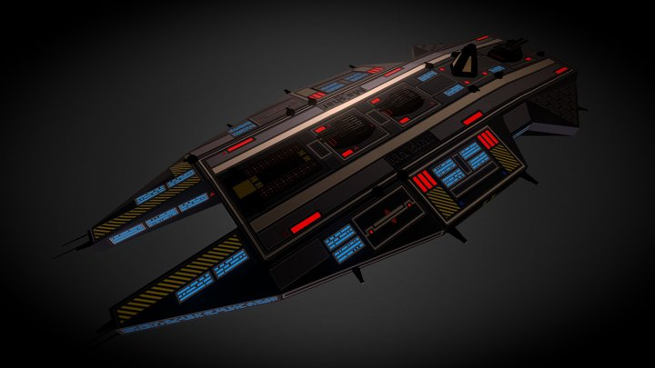 Mish'ar Cruiser 3D Model