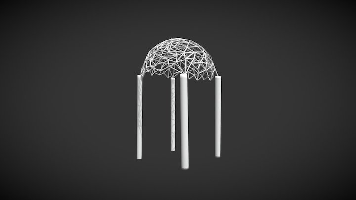 Geometric Pergola 3D Model