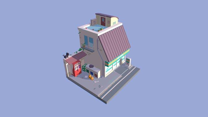 Convenience Corner 3D Model