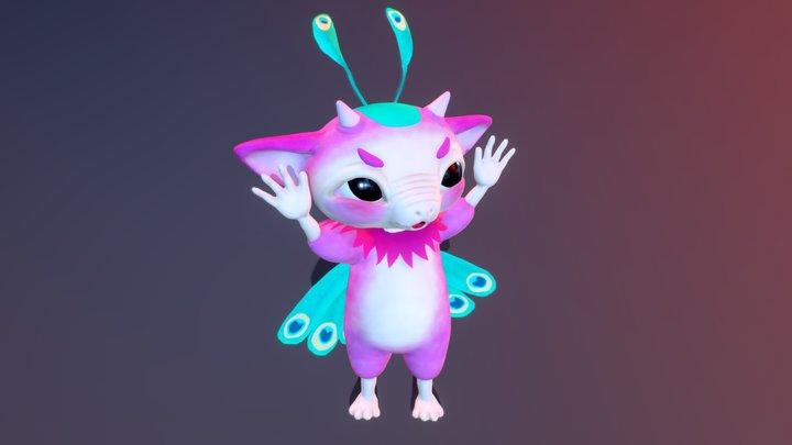 Acrobat alien 3D Model