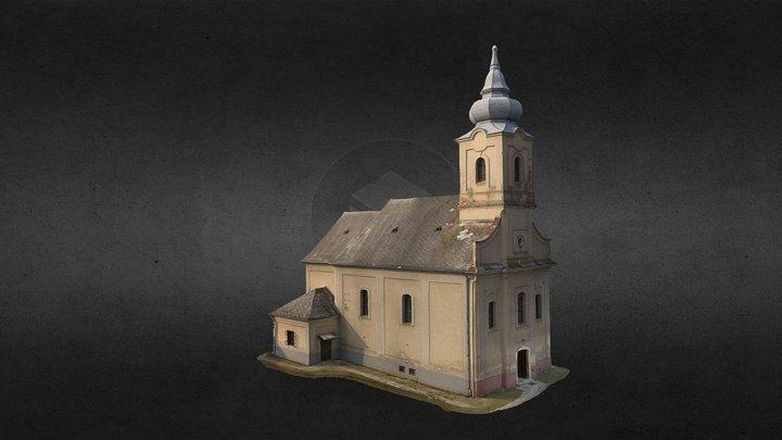 Pusztamagyaród, Keresztelő Szent János templom 3D Model