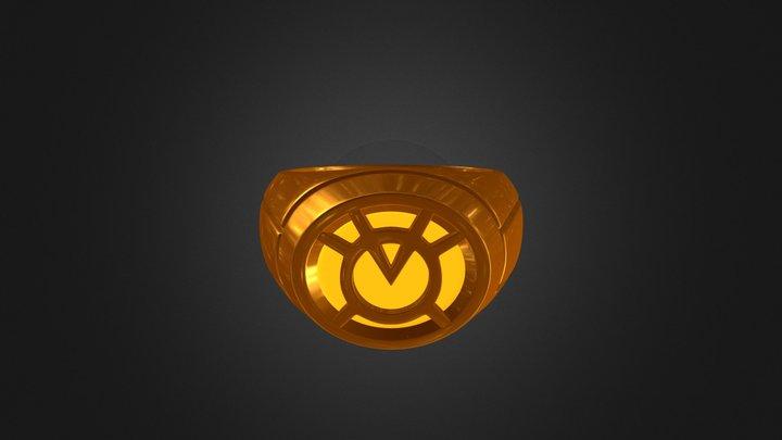 Orange Lantern Ring 3D Model