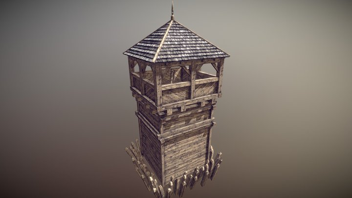 LV2 Defence Tower Mesh 3D Model