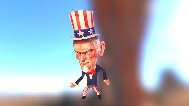 Uncle Sam 3D Model