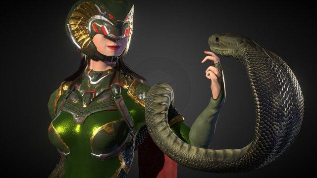 Queen Cobra 3D Model