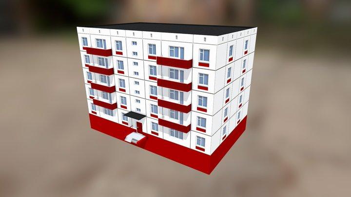 Хрущевка линейная 3D Model