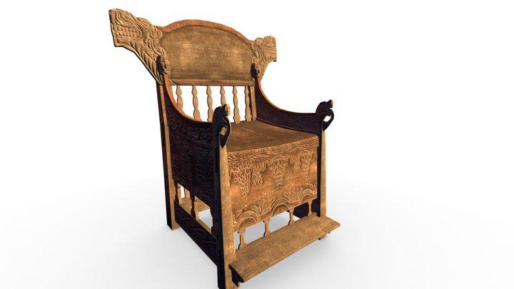 chair old norwegian-viking style 3D Model