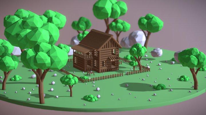 Low poly place 3D Model