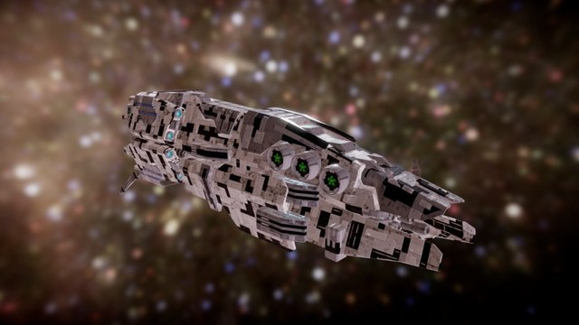Dominium : Sulranian Heavy Cruiser 3D Model