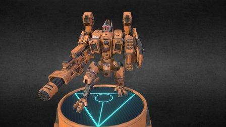 Tau Empire, Riptide Battle Armour 3D Model